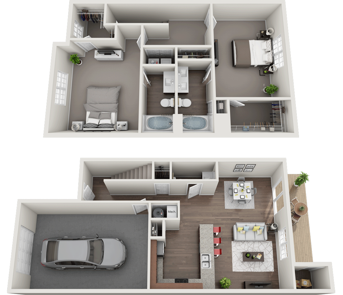 The Royal Floor Plan, Regency Club Apartments, Evansville, IN