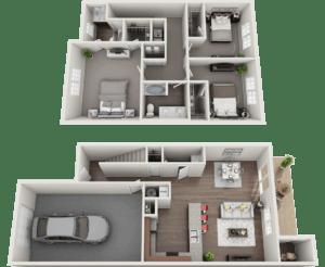 The Victorian Floor Plan, Regency Club Apartments, Evansville, IN